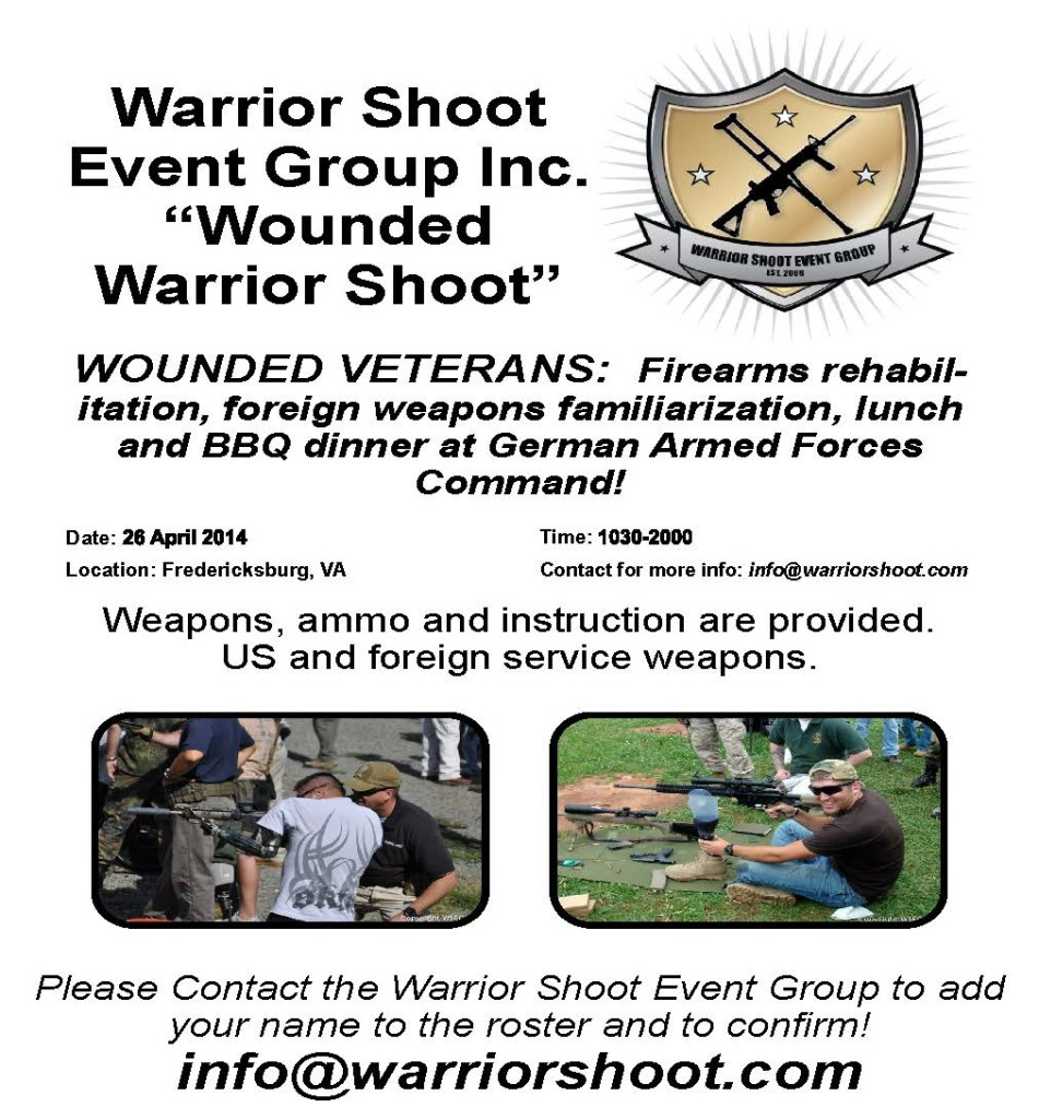 Get the Lead Out Wounded Warrior Shoot Flyer ver 2